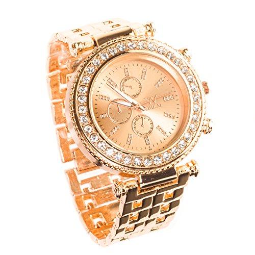 shikair-womens-quartz-analog-stainless-stee-lwrist-watch-rose-gold-band-designer-choice