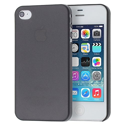 doupi® UltraSlim Case for - Apple iPhone 4 iPhone 4S - Fine Matte Feather Light Bumper Cover Protector Sleeve Skin Case - Black (Iphone 4s Bumper Black compare prices)