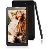 JYJ 7 Inch Tablet PC MTK8312 WCDMA 2G + 3G Google Android 4.2 Jelly Bean Mobile Phone Phablet Dual Core Camera Bluetooth GPS HD Capacitive Screen WiFi Black
