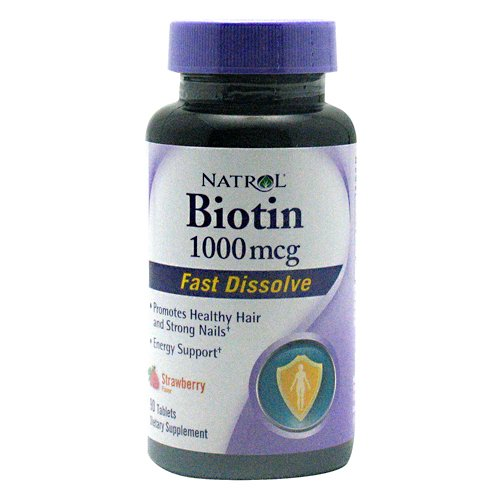 Natrol General Health Biotin 1 000 Mcg Fast Dissolve Cherry Flavored 90 Tablets 224814