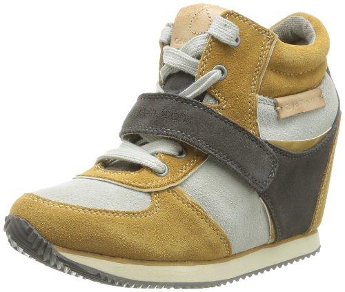 Calvin Klein Jeans  Viridiana,  Sneaker donna, Giallo (Mustard/Ant White), 40