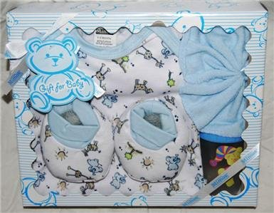 New- Lil Mimos 4 pc Baby Gift Set (yellow)