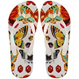 MISS TRISH LADIES BUTTERFLY FLIP FLOPS WHITE