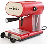 Kitchen - Charles Jacobs 15 Bar Pump Coffee - Espresso Italian New Design Machine in Red