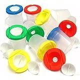 4 Non Spill Paint Pots (4 different coloured lids)