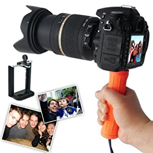 First2savvv ZP-B-07 orange Self-portrait telescopic handheld Pole Arm monopod Camcorder/Camera/mobile phone tripod mount adapter bundle for OLYMPUS C-700 Ultrazoom