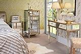 MY- Furniture luxurioes vergoldeter und verspiegelter Schminktisch und 2 Nachttische VESRASAILLES-Reihe