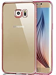 Superstart Rose Gold Beauty Luxury Clear Protective Rubber Case Plating Bumper Soft Flexible TPU Transparent Skin Case for Samsung S7 Edge