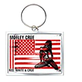 Rock Off - Motley Crue Enamel Keychain Red White & Crue