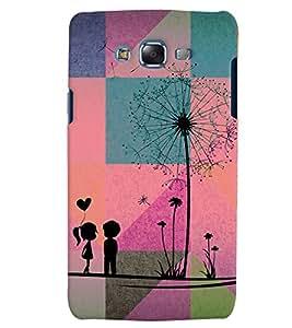 PrintVisa Romantic Love Couple 3D Hard Polycarbonate Designer Back Case Cover for Samsung Galaxy J7