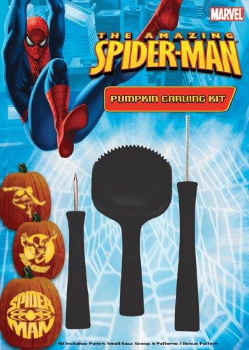 Paper Magic Group Pumpkin Carving Kit, Spiderman - 1