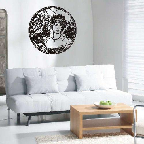 Imagen 2 de Etiqueta de la pared d27 ornamento con la mujer bonita 40x39 cm