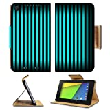 Black Pattern Turquoise Vertical Stripes Asus Google Nexus 7 FHD II 2nd Generation Flip Case Stand Magnetic Cover Open Ports Customized Made to Order Support Ready Premium Deluxe Pu Leather 8 1/4 Inch (210mm) X 5 1/2 Inch (120mm) X 11/16 Inch (17mm) MSD Nexus 7 Professional Nexus7 Cases Nexus_7 Accessories Graphic Background Covers Designed Model Folio Sleeve HD Template Designed Wallpaper Photo Jacket Wifi Luxury Protector sale off 2015