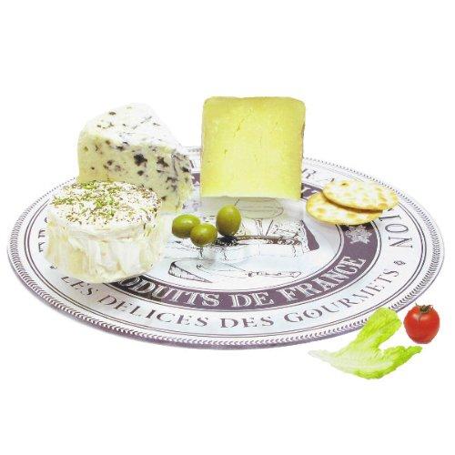 Plateau à fromage tournant rond Ø 32 cm Délices des Gourmets