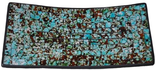 Mosaic Glass Tray, Minor Irregularities -