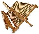 Culina Bamboo Dish Rack, Fold-able, Compact Fold size 18