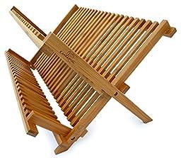 Culina Bamboo Dish Rack, Fold-able, Compact Fold size 18\