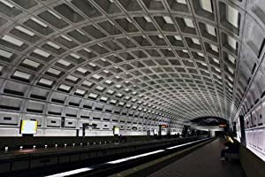 Washington Dc Metro Station Wall Decal - 24 Inches W x 16 Inches H - Peel and Stick Removable Graphic