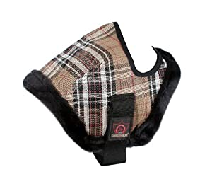 Kensington Mini Fly Mask with Fleece Trim (Under 34-Inch), Size A, Deluxe Black Plaid