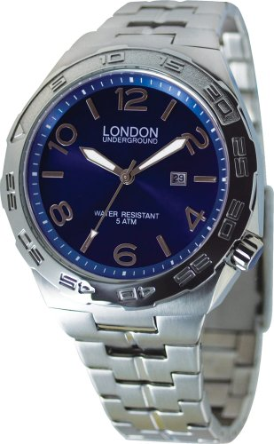 Mens Blue Stainless Steel Watch by London Underground LU-261214-A