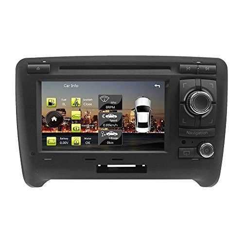 LIKECAR-7-Zoll-Double-din-AUTO-DVD-GPS-Navigation-Stereo-Autoradio-fr-AUDI-TT-Touchscreen-Lenkradsteuerung-iPod-1080P-Bluetooth-USB-SD-RDS-Dual-Zone-IPAS-OPS-OBD-Door-Status-display