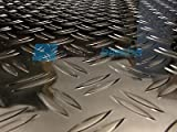 Checker plate 2000x500x1,5/2mm aluminum sheet DUET Alu plate