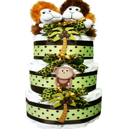 My Little Monkey New Baby Diaper Cake Gift Tower Nuetral