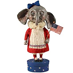 Ellie The American Elephant by Bethany Lowe Patriotic Fourth of July 4th Decorations