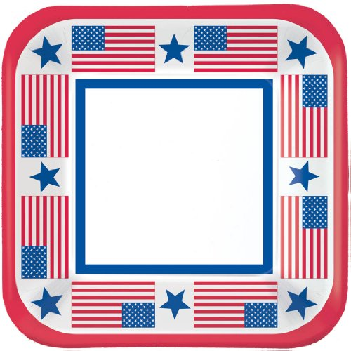 Patriotic Party Dessert Plates (40ct)