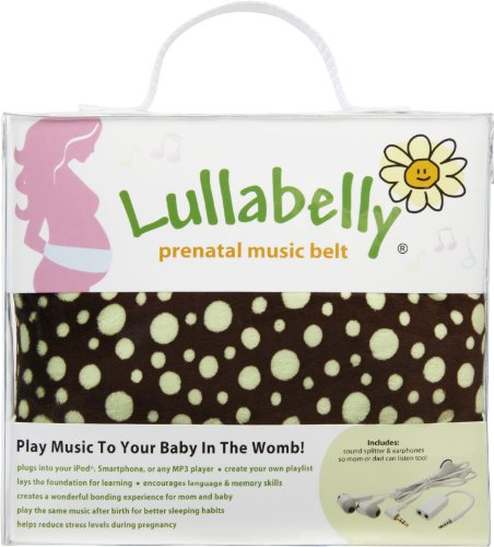 Lullabelly Prenatal Music Belt - Chocolate Brown