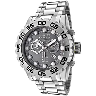 Invicta Men's 0811 Reserve Collection Leviathan Chronograph Grey Dial Stainless Steel Watch
