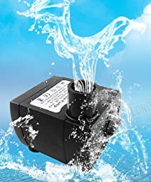 JBtek 80 GPH Submersible Pump Aquarium Fish Tank Powerhead Fountain Water Hydroponic (Medium)