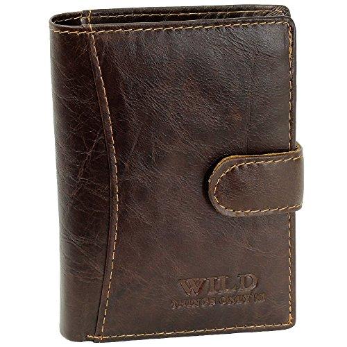 Bag Street - Portefeuille en cuir - Homme - Brun