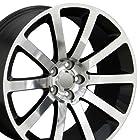 20 Fits Chrysler - CL 300 SRT Style Replica Wheels - Black 20x9 SET