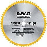 DEWALT DW3126 Series 20 12-Inch 60 Tooth ATB Thin Kerf Crosscutting Miter Saw Blade with 1-Inch Arbor (Tamaño: 1