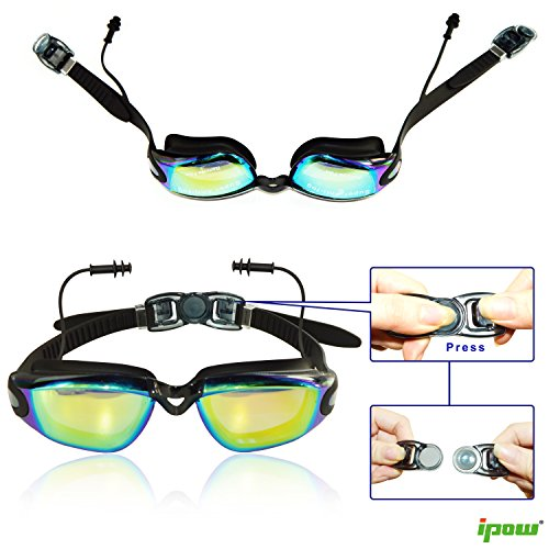 Ipow Mirrored Anti-fog Uv Protection Swim Swimming Goggles ...