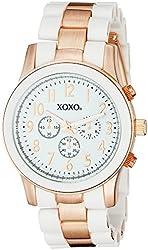 XOXO Women's XO5641 Rose Gold and White Bracelet Analog Watch
