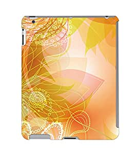 Fuson 3D Printed Floral Pattern Designer Back Case Cover for Apple iPad 4 - D931
