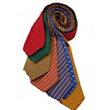 7Piece 100% Pure Silk Ties. Made in England. (217D)RRP£139.99