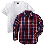U.S. Polo Assn. Boys 8-20 Twofer Woven Shirt And T-Shirt