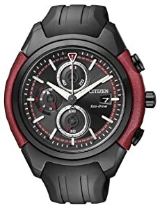 Citizen CA0287-05E - Reloj cronógrafo de cuarzo para hombre, correa de poliuretano color negro