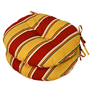 Greendale Greendale 18 in. Round Outdoor Bistro Chair Cushion - Set of 2 by Greendale Home Fashions LLC