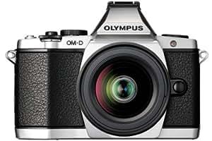 Olympus E-M5 OM-D kompakte Systemkamera (16 Megapixel, 7,6 cm (3 Zoll) Display, bildstabilisiert) inkl. Objektiv M.Zuiko Digital ED 12-50mm silber