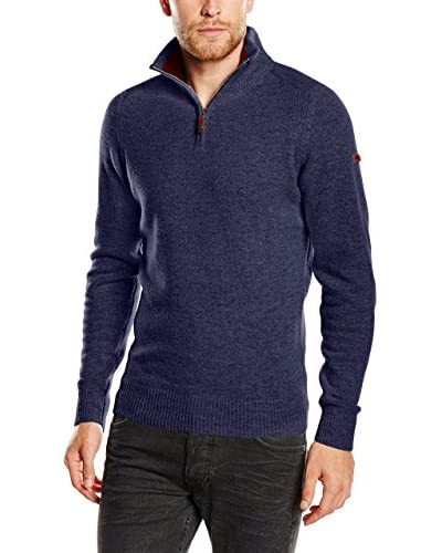 Ben Sherman Pullover The Half Zip Funnel Neck  [Blu]