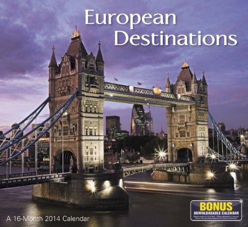 2014 European Destinations Wall Calendar