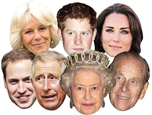 The Royals - Multipack - 7 Celebrity Face Masks
