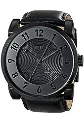 Vestal Men's DOP003 Doppler Oversized Matte Black Ion-Plated Stainless Steel Watch