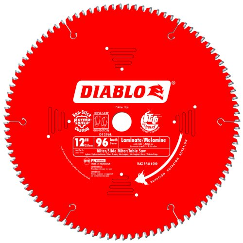 Freud D1296L Diablo Melamine, Laminate Flooring, and Wood Saw Blade 12-Inch Diameter 96t TCG 1-Inch Arbor (Wood Flooring Saw compare prices)