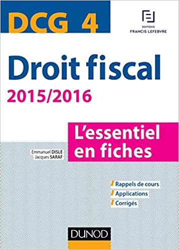 DCG 4 - Droit fiscal - Dunod - 2015/2016