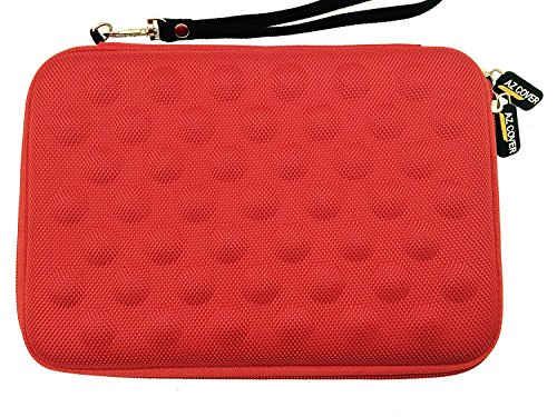 AZ-Cover 7.85-Inch Tablet Semi-rigid EVA Bubble Foam Case (Red) With Wrist Strap For Trio AXS 4G 7.85in 16GB Quad Core Tablet + One Capacitive Stylus Pen (Trio Axs Quad Core Tablet Cover compare prices)